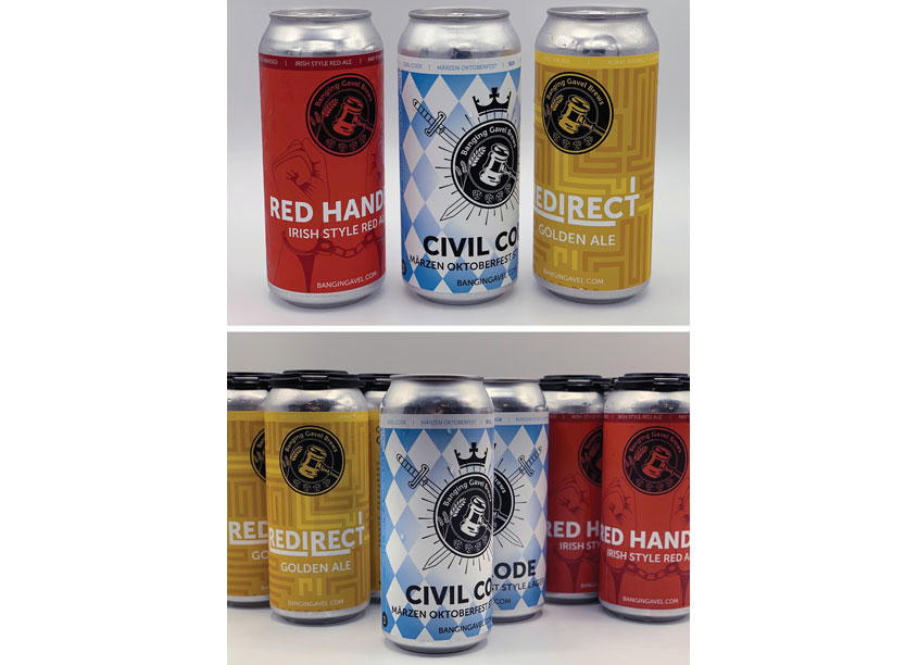 Banging Gavel Brews Can Packaging Series by Banging Gavel Brews