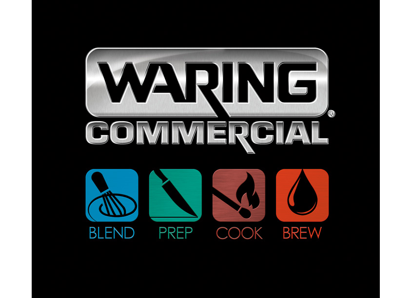 Waring Blend Prep Cook Brew Logos/Icons by Conair Corporation, Waring Commercial Products Division