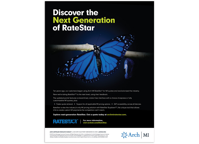 RateStar New Portal Launch Campaign - Print Advertising by Arch MI - Marketing