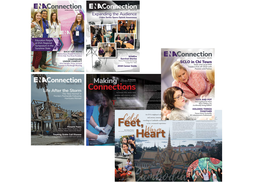 Connection Magazine Redesign by Emergency Nurses Association (ENA)