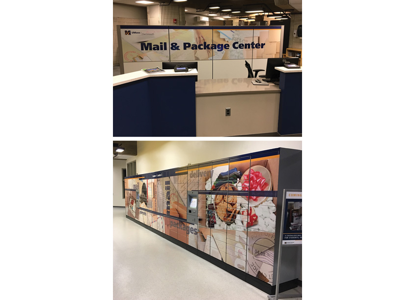 University of Massachusetts Dartmouth Campus Center Mailing Center Graphics