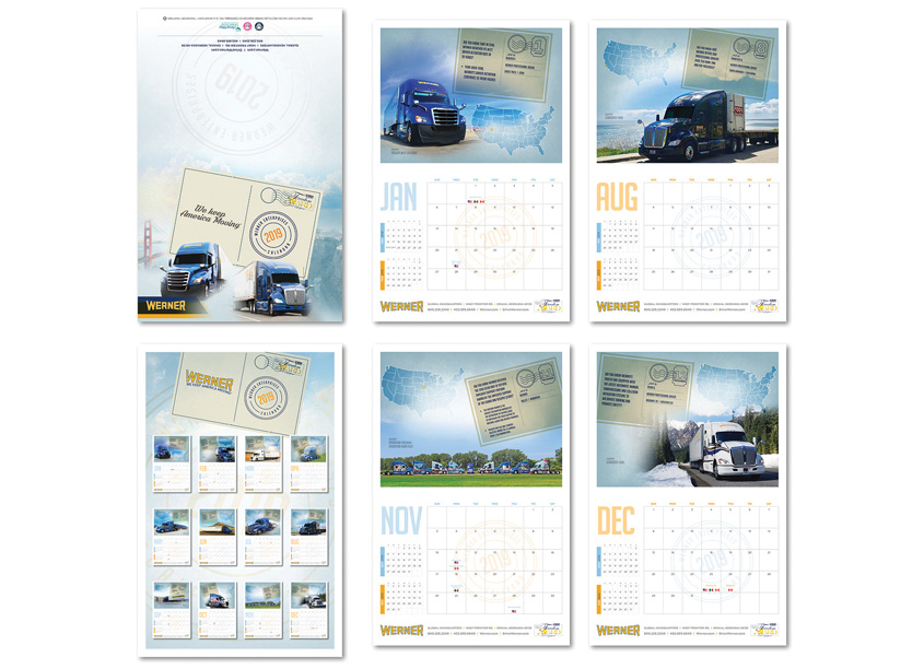 2019 We Keep America Moving Calendar by Werner Enterprises