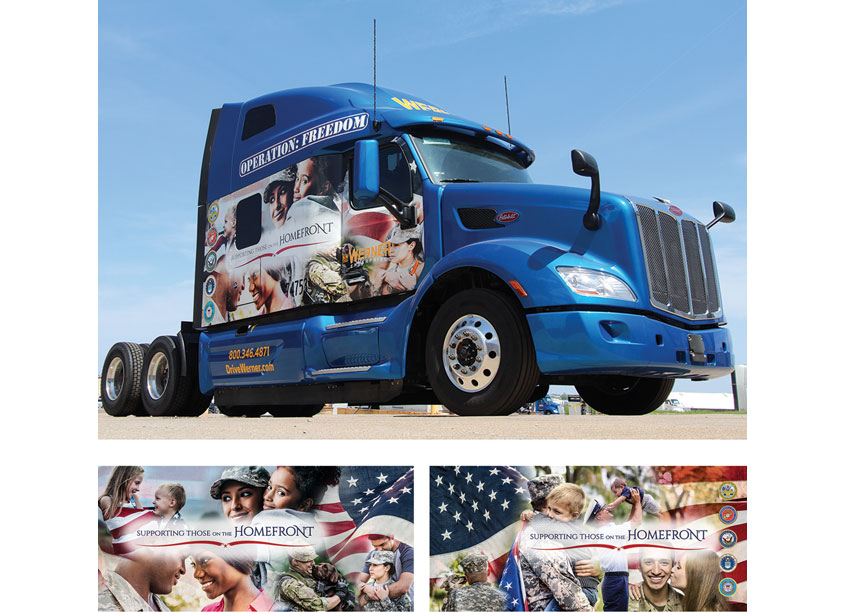 Military Family Truck Wrap by Werner Enterprises