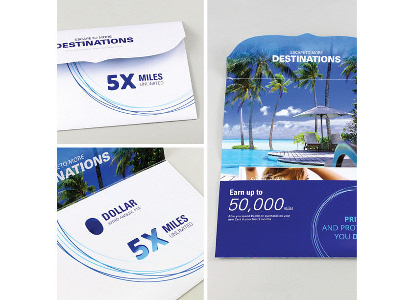 Financial Invitation Mailer by Quad, Design Innovation Team