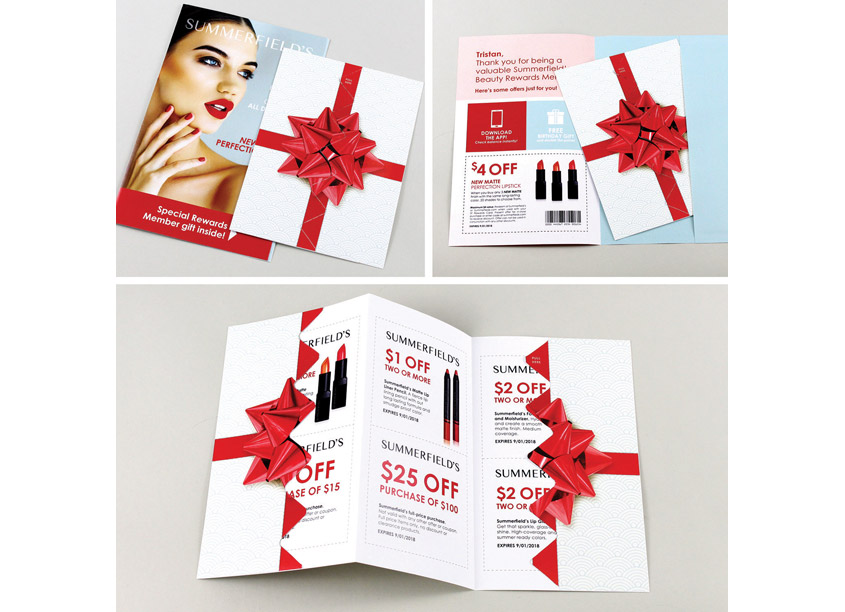 Interactive Beauty Rewards Mailer by Quad, Design Innovation Team