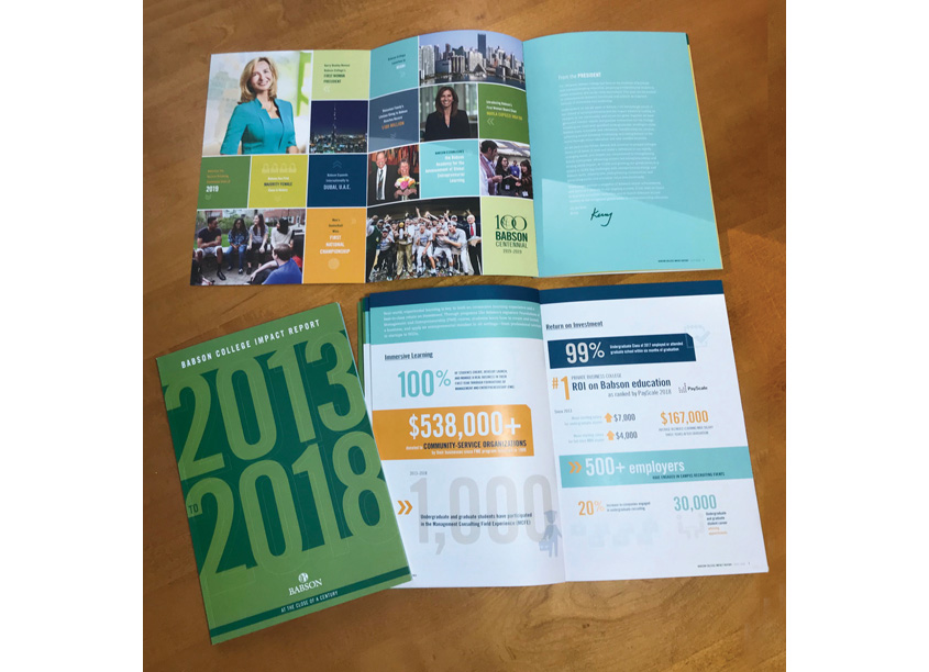 Babson College Impact Report by Babson College Marketing Department