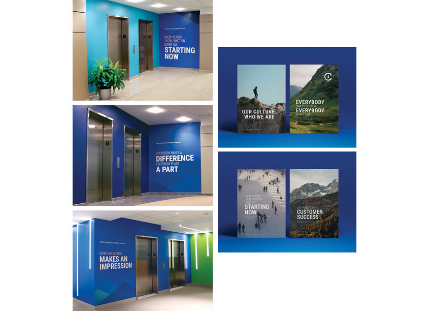 C1 Environmental Graphics Campaign by Bottomline Technologies