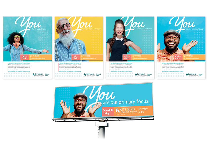 Primary Care You Campaign by Kettering Health Network Marketing & Communications