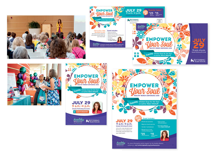 Empower Your Soul Healthy Women Conference Campaign by Kettering Health Network Marketing & Communications