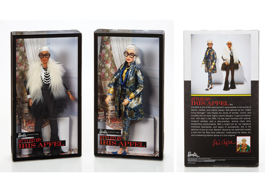 Mattel, Inc. Styled By Iris Apfel Barbie® Dolls