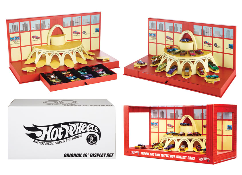 Mattel, Inc. Hot Wheels® Original 16 Display Set
