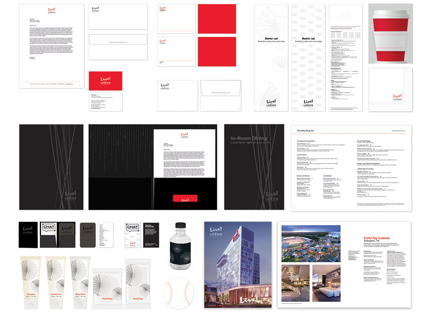 Loews Hotels & Co Brand Design Studio Branding and Identity Package
