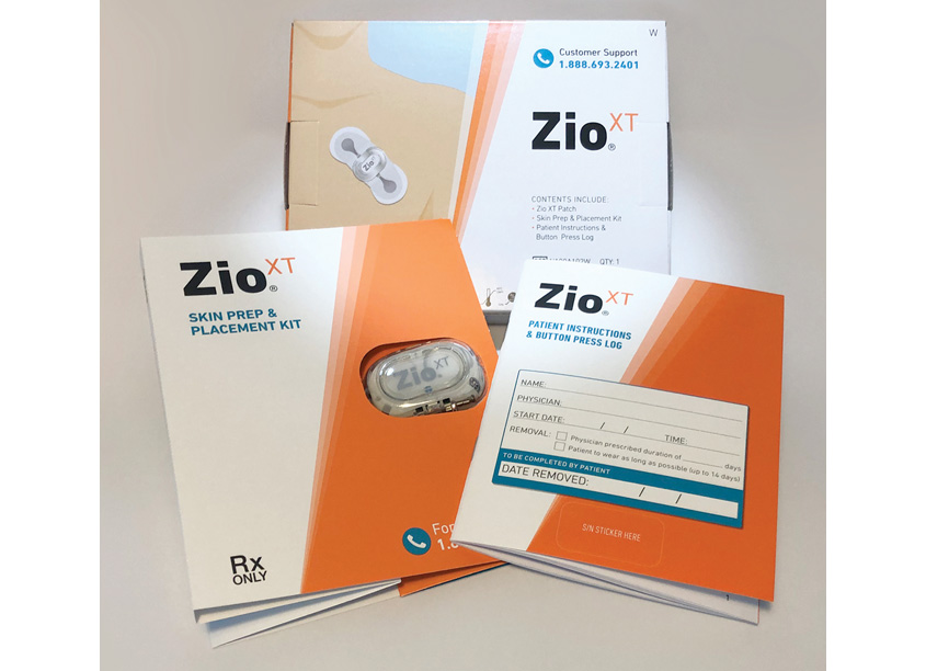 Zio XT Ambulatory Cardiac Monitoring Packaging by iRhythm Technologies