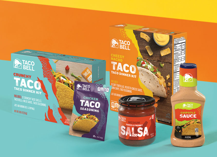 Taco Bell Design Taco Bell Grocery Packaging