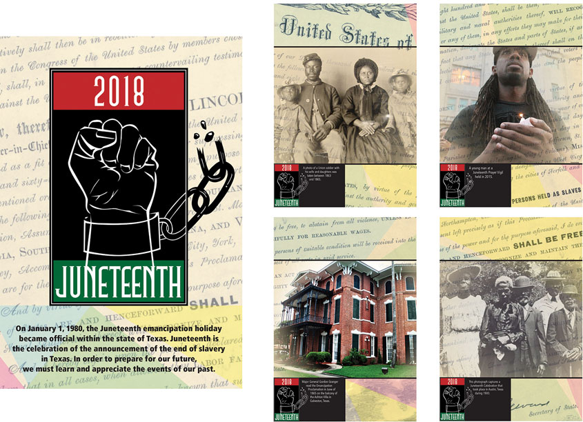 2018 Juneteenth Celebration Columns by Tarrant County College District/Graphic Services