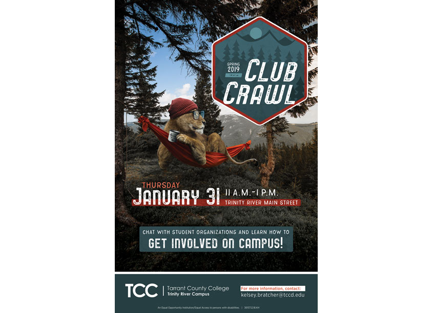 Spring 2019 Club Crawl by Tarrant County College District/Graphic Services
