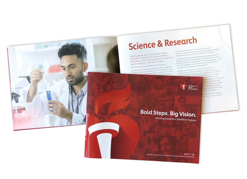 Bold Steps. Big Vision. Annual Report 2017-2018 by American Heart Association