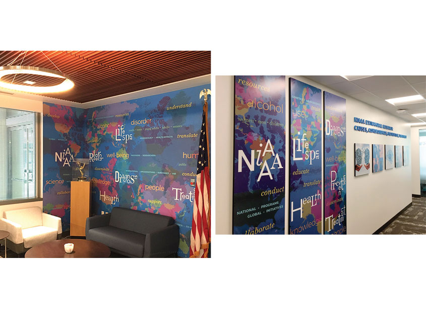 National Institutes of Health (NIH) Medical Arts Global Health Mural and Graphic Panels