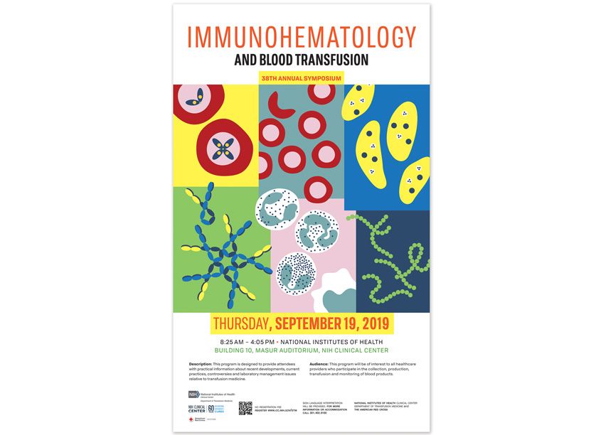 National Institutes of Health (NIH) Medical Arts Immunohematology & Blood Transfusion 2019 Symposium Poster