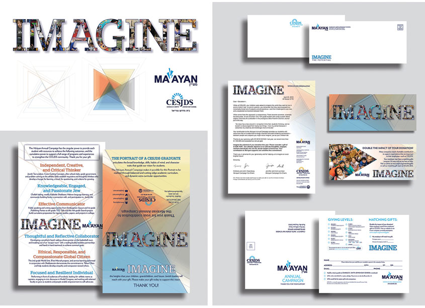 Ma�ayan 2019 Annual Campaign Brochure + Mailing by Charles E. Smith Jewish Day School (CESJDS) Marketing Department