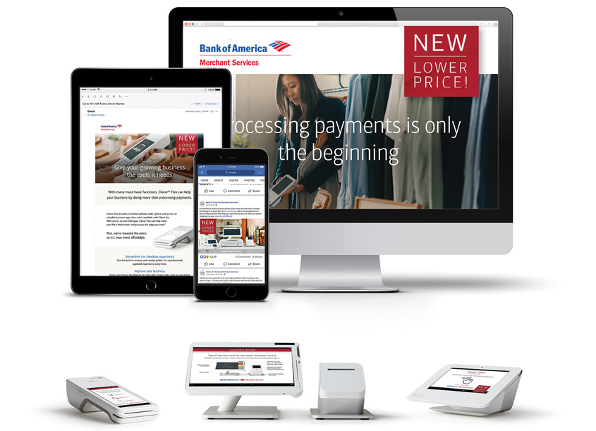 Bank of America Merchant Services Clover New Lower Pricing Web Design