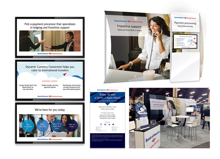 Bank of America Merchant Services Choice Hotel Tradeshow Display