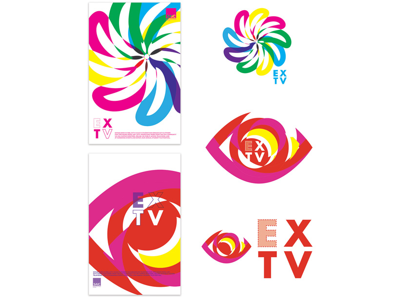 ExTV Branding and Identity by School of the Art Institute of Chicago, IRFM Creative
