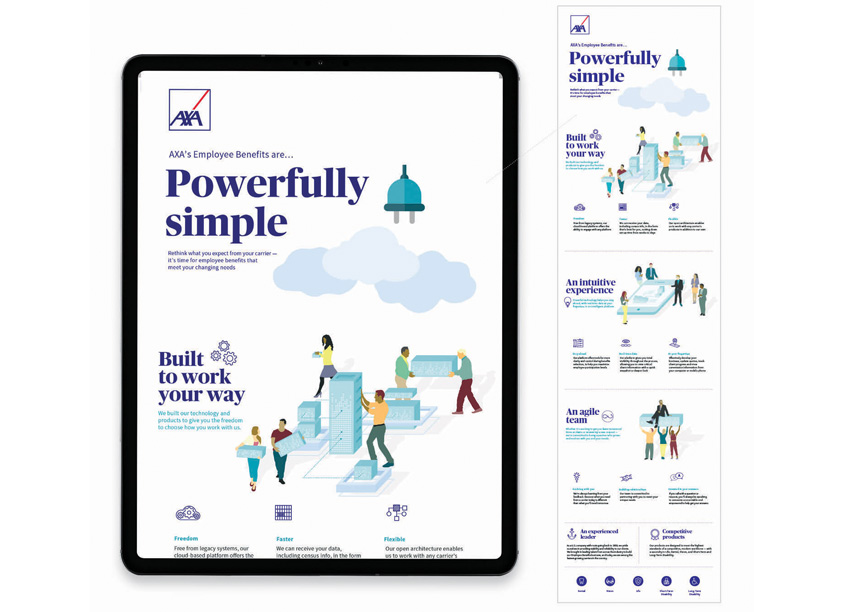 Employee Benefits Powerfully Simple Landing Page by AXA In-House Agency