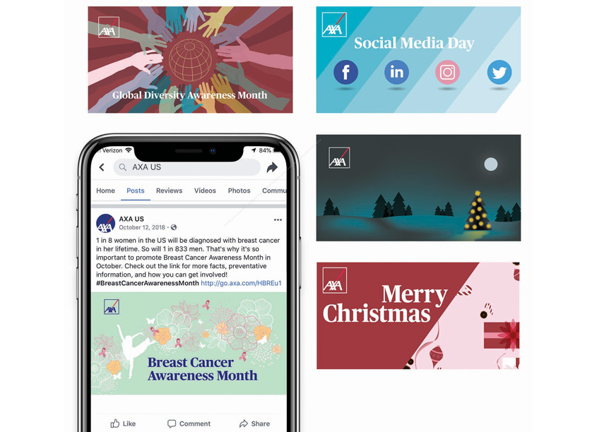 Holiday Social Media Series by AXA In-House Agency