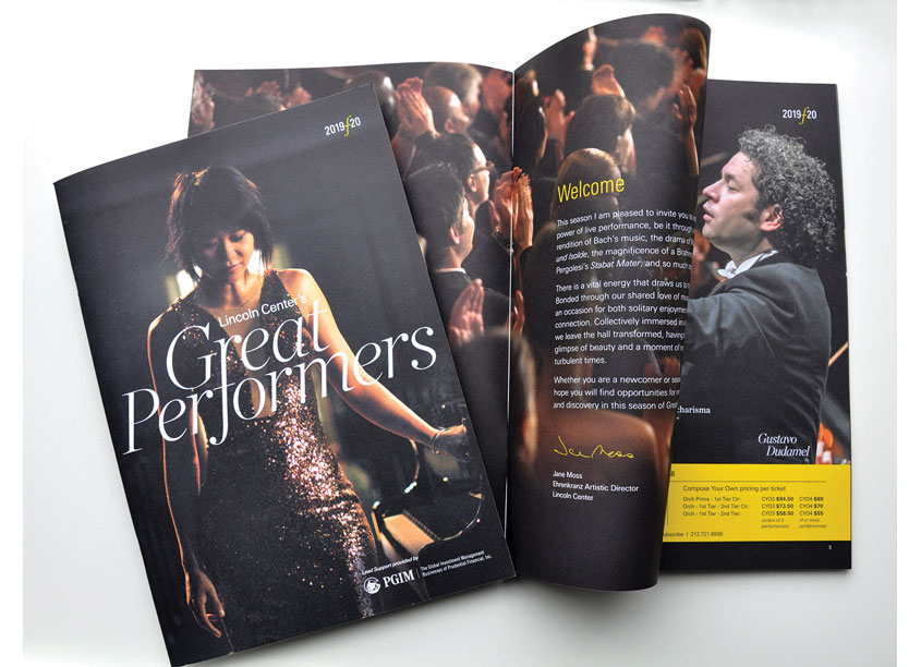 Lincoln Center for the Performing Arts Great Performers Brochure