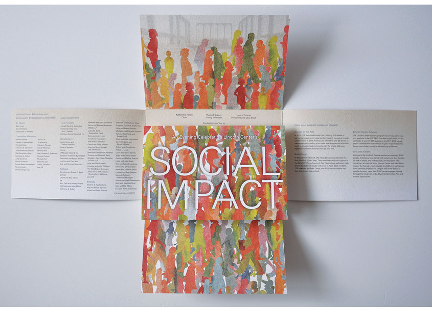 Lincoln Center for the Performing Arts Social Impact Invitation