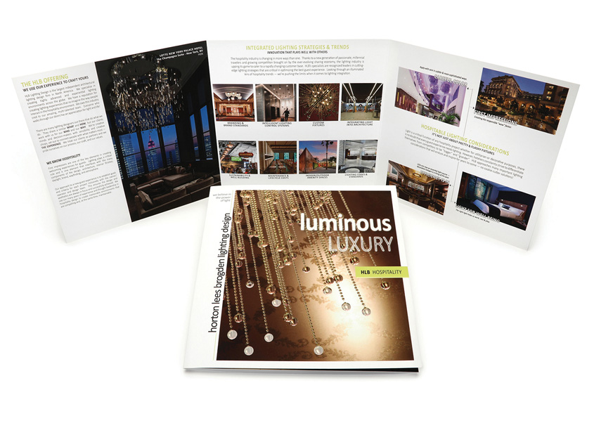 HLB Hospitality - Luminous Luxury Brochure by Integrated Printing & Graphics