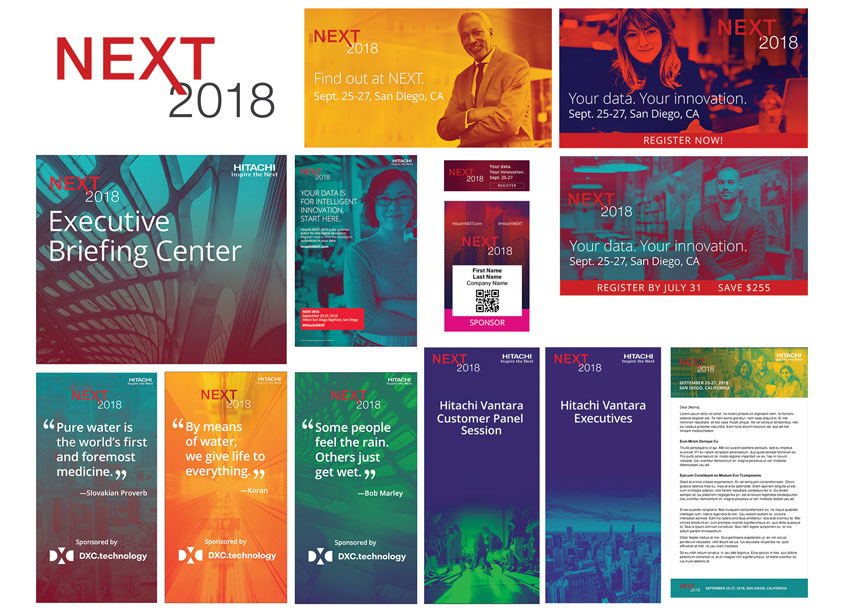 NEXT 2018 Branding by Hitachi Vantara Brand and Creative Services