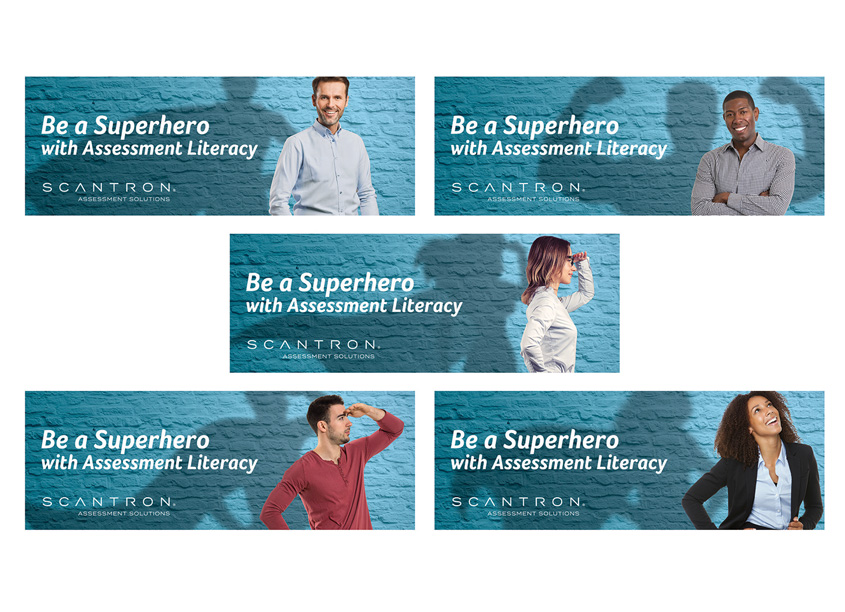 Scantron Assessment Literacy Superhero Banners