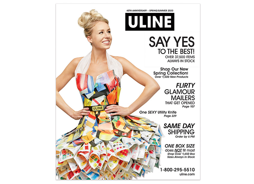 Uline 40th Anniversary Catalog Cover by Uline Creative Department