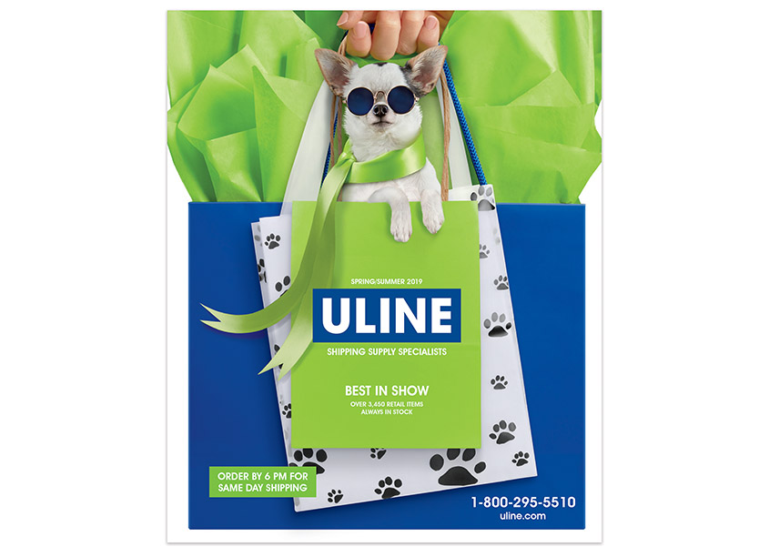 Uline Retail Dog Catalog Cover by Uline Creative Department
