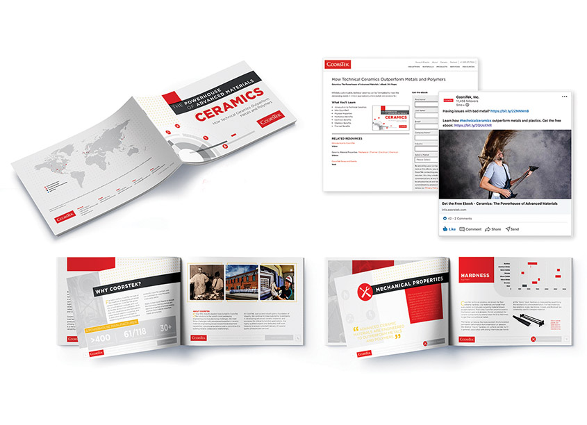 eBook, Print and Social Media Campaign by CoorsTek Inhouse Creative Services