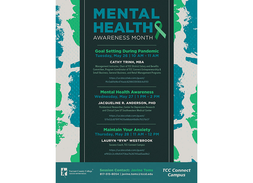 Mental Health Month Announcement by Tarrant County College District/Graphic Services