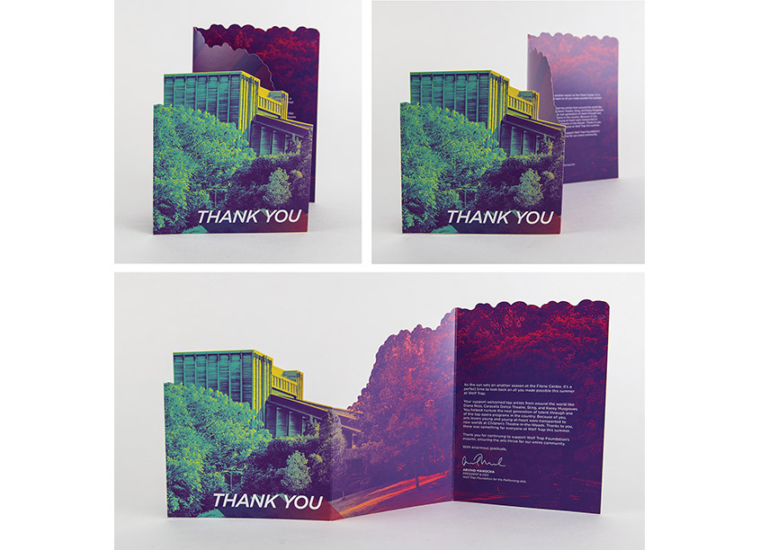 2019 Donor Thank You Card by Wolf Trap Creative