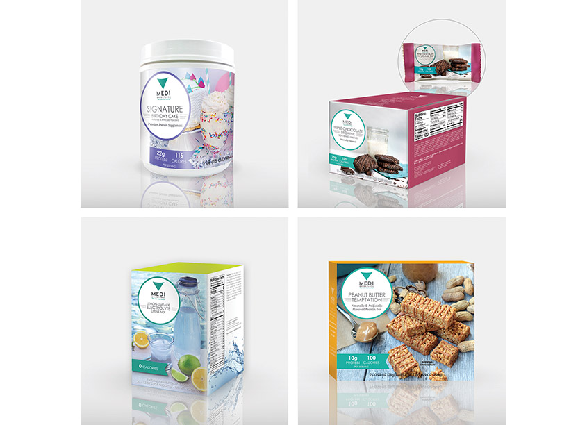 Medi-Weightloss InHouse Graphics Department Signature Products Package Design Series
