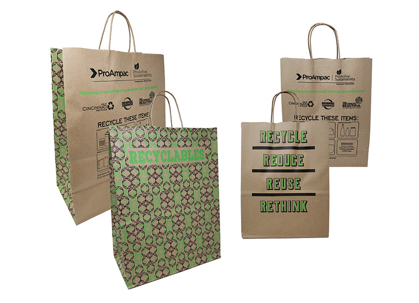 ProAmpac's Design And Sample Lab (DASL) ProActive Recyclable Paper Bags