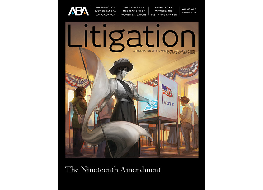 American Bar Association/ABA Creative Group Litigation Magazine Cover - 19th Amendment