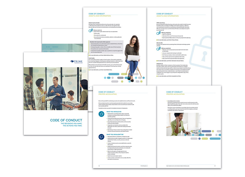 Code of Conduct Booklet by Prime Therapeutics Creative Services
