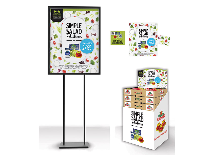 Simple Salad Solutions Promotion by Litehouse Design Team