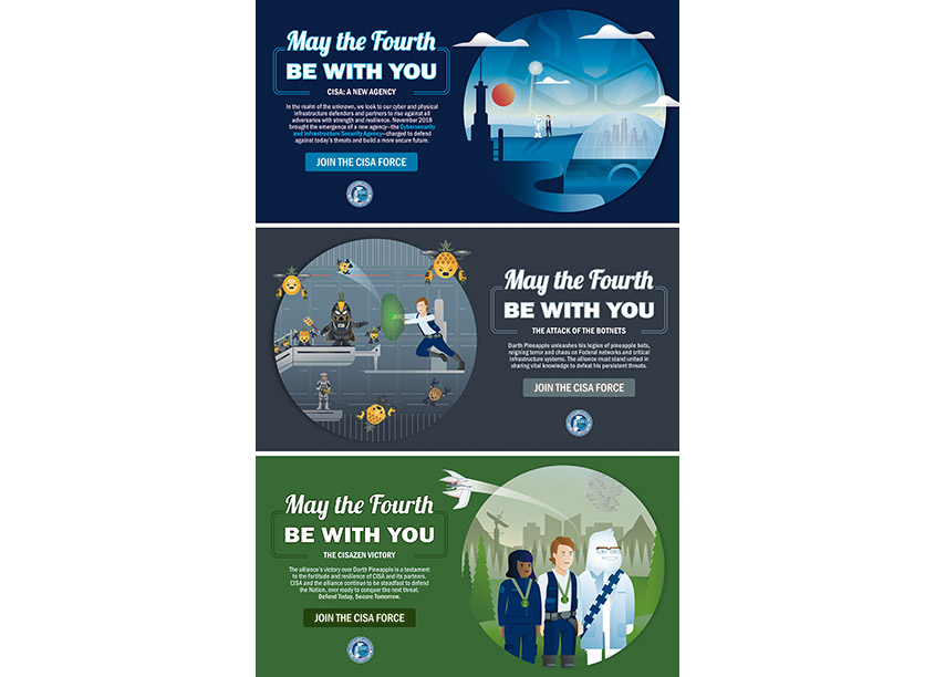 Cybersecurity and Infrastructure Security Agency (CISA) May The 4th Be With You Micro Recruitment Campaign