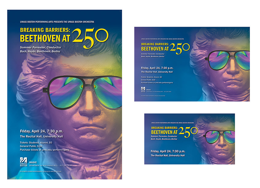 University of Massachusetts Boston Beethoven at 250 Years Poster