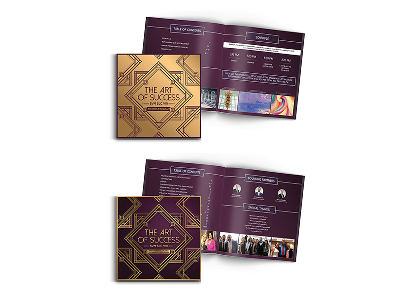 Gold Printed 2019 Strategic Leadership Conference Programs by Best Version Media