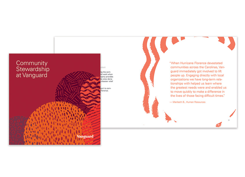 Vanguard Gives Back Brochure by Vanguard, Corporate Communications Design