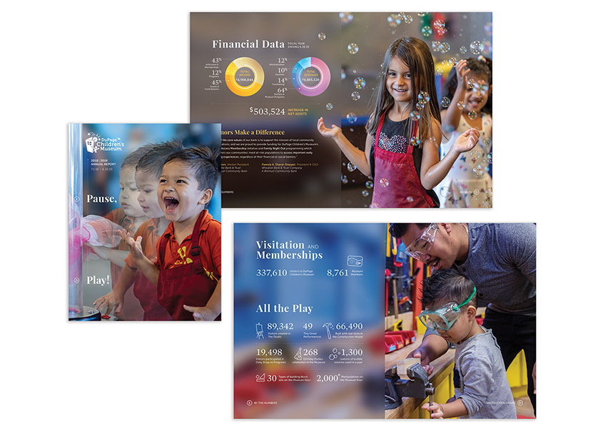 DuPage Children's Museum 2018|2019 Annual Report - Pause, Play!
