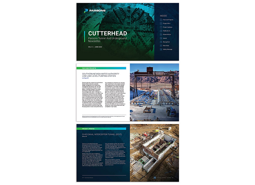 Cutterhead Tunnel and Underground Newsletter by Parsons - Core Creative